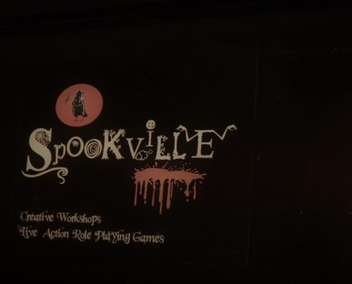 spookville-logo-on-wall